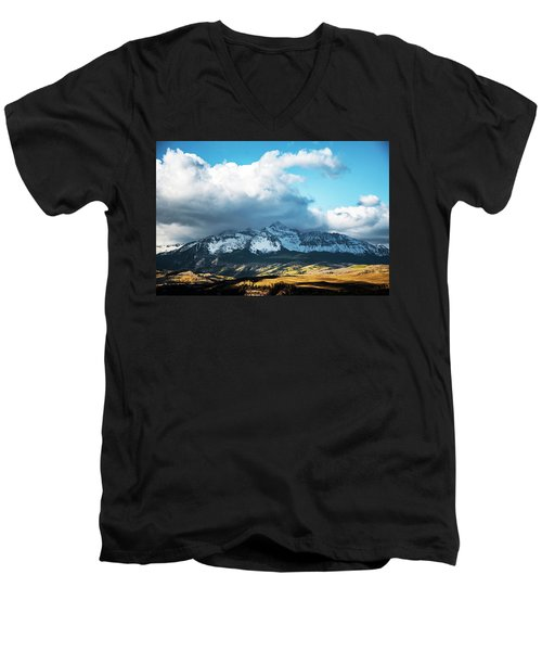 Telluride Colorado In The Fall Men's V-Neck T-Shirt
