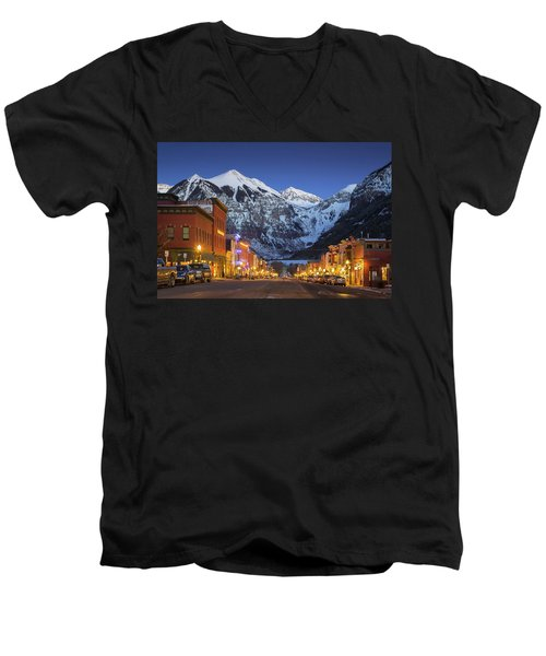 Telluride Main Street 3 Men's V-Neck T-Shirt