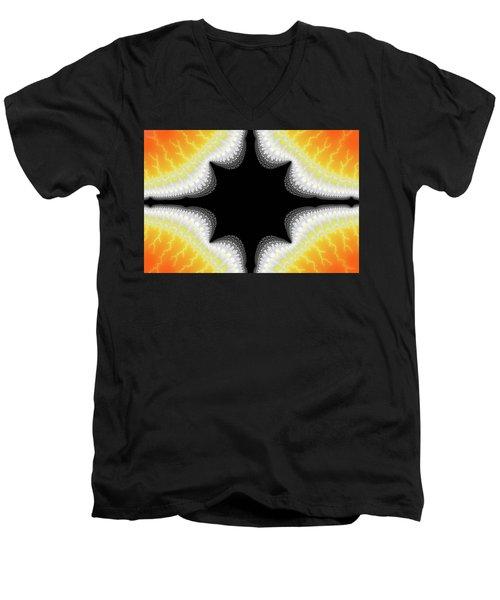 Fractal 7 Center 2x3 Men's V-Neck T-Shirt