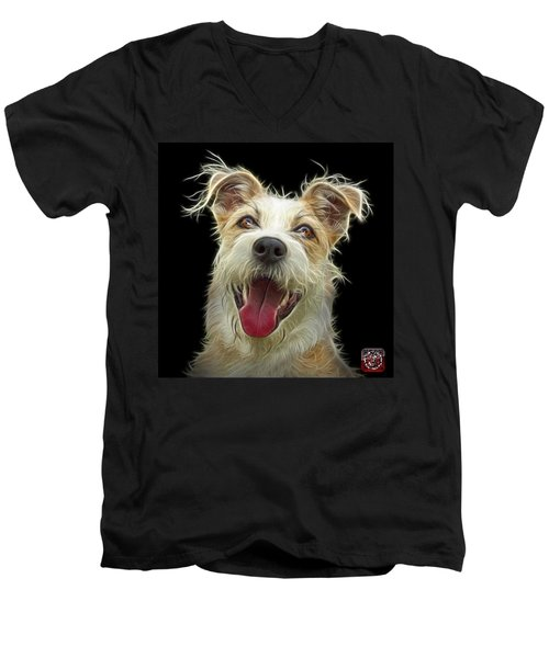 Terrier Mix 2989 - Bb Men's V-Neck T-Shirt