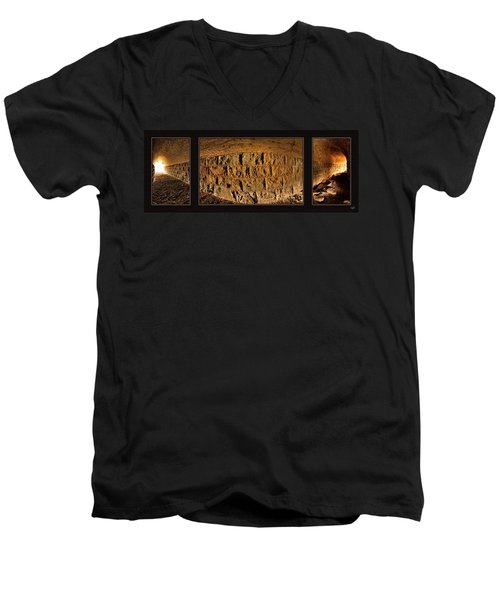 Terry Tunnel Triptych Men's V-Neck T-Shirt by Leland D Howard