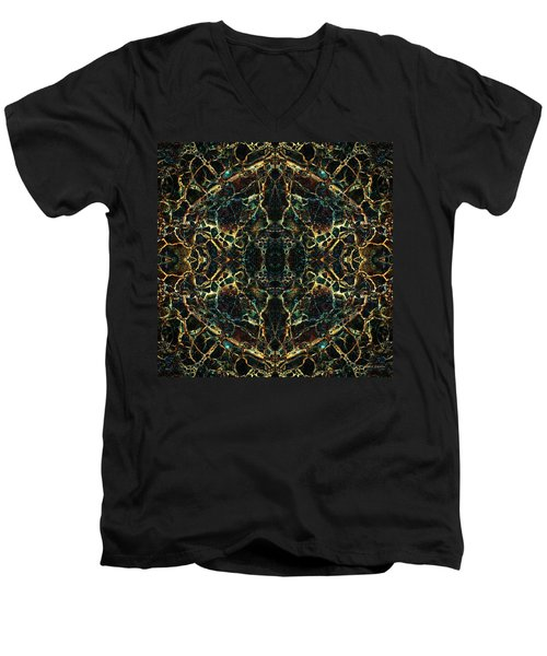 Tessellation V Men's V-Neck T-Shirt by David Gordon