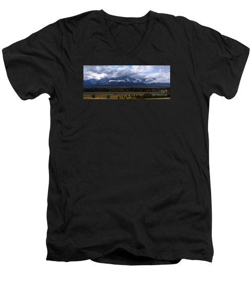 Teton Range # 1 Men's V-Neck T-Shirt