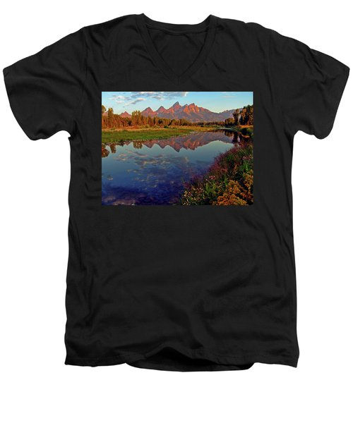 Teton Wildflowers Men's V-Neck T-Shirt