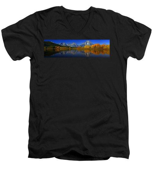 Tetons From Oxbow Bend Men's V-Neck T-Shirt