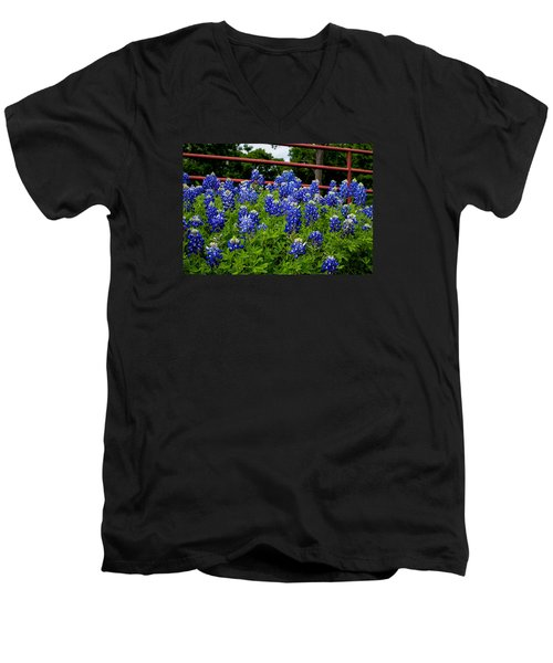 Texas Bluebonnets In Ennis Men's V-Neck T-Shirt