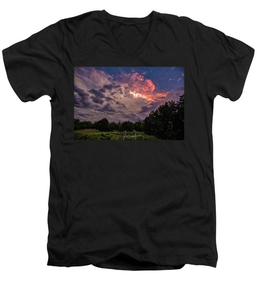 Texas Sunset Men's V-Neck T-Shirt