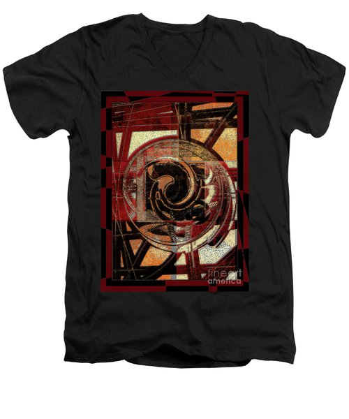 Textured Abstract Men's V-Neck T-Shirt