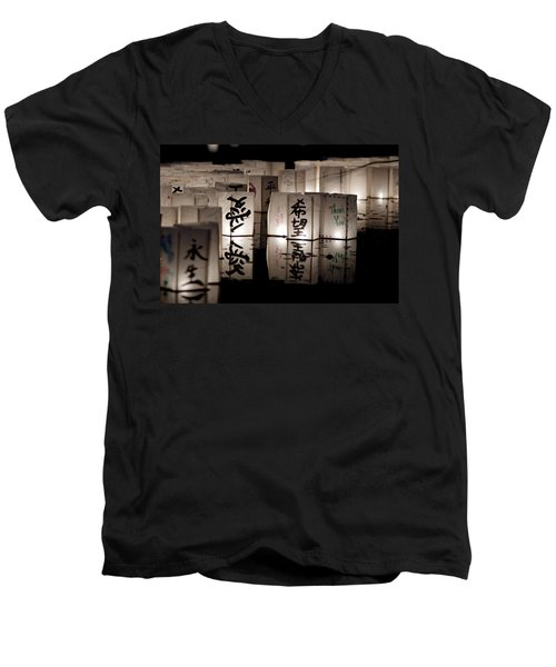 Thank You Men's V-Neck T-Shirt by Greg Fortier