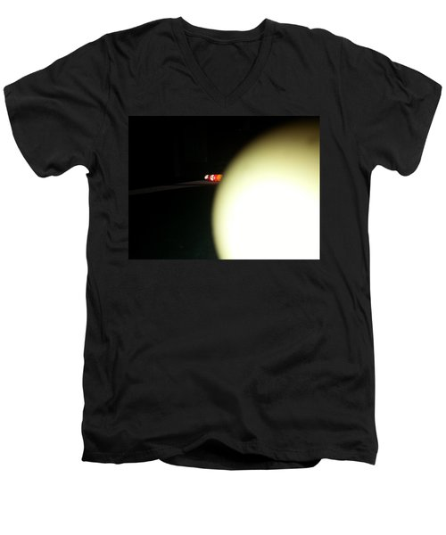 Men's V-Neck T-Shirt featuring the photograph That's No Moon by Robert Knight
