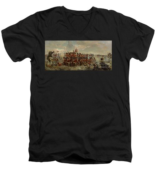 The 28th Regiment At Quatre Bras Men's V-Neck T-Shirt