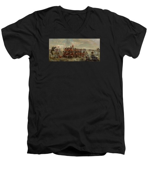 The 28th Regiment At Quatre Bras Men's V-Neck T-Shirt
