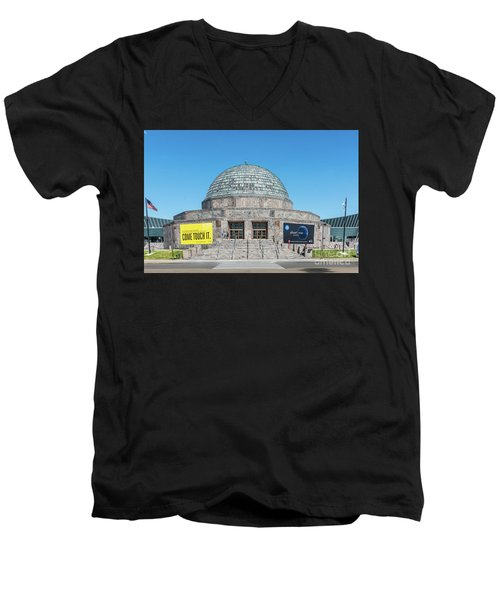 The Adler Planetarium Men's V-Neck T-Shirt