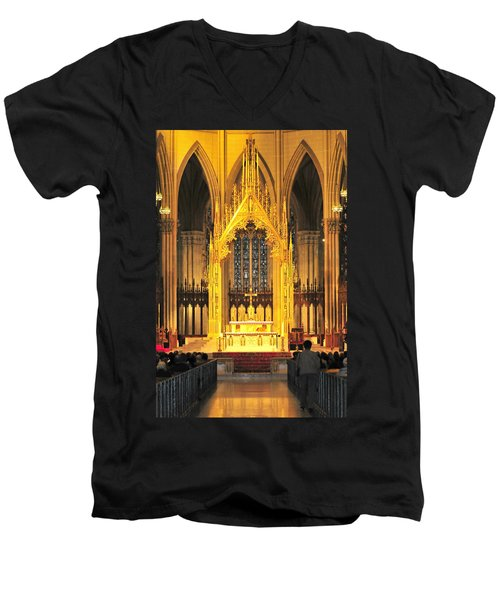 Men's V-Neck T-Shirt featuring the photograph The Alter by Diana Angstadt