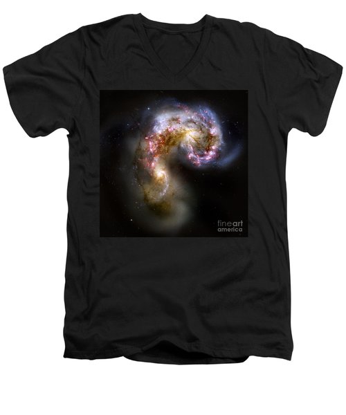 The Antennae Galaxies - Ngc 4038-4039 Men's V-Neck T-Shirt