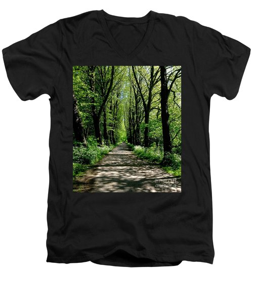 The Avenue Of Limes At Mill Park 3 Men's V-Neck T-Shirt