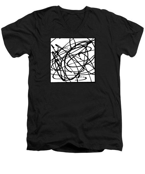 The B-boy As Men's V-Neck T-Shirt by Ismael Cavazos