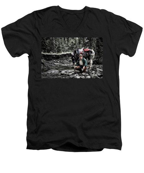 The Back Country Guardian Men's V-Neck T-Shirt