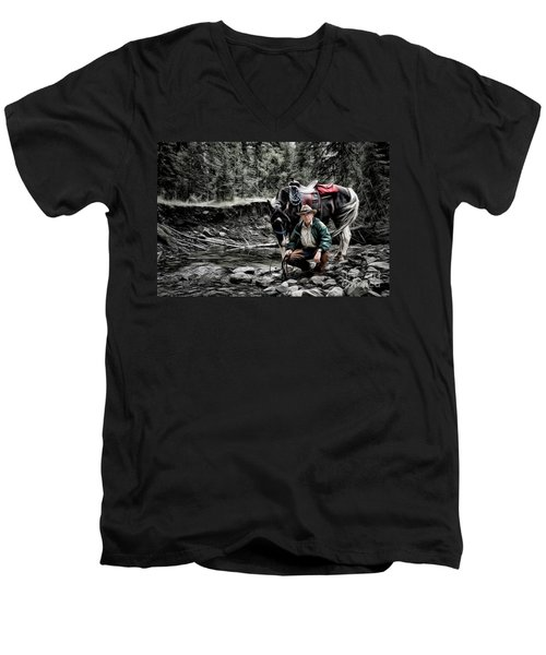 The Back Country Guardian Men's V-Neck T-Shirt