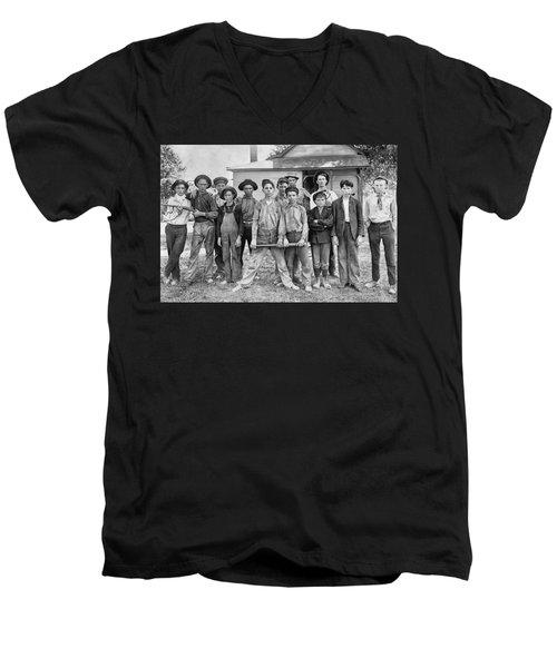 The Ball Team Men's V-Neck T-Shirt