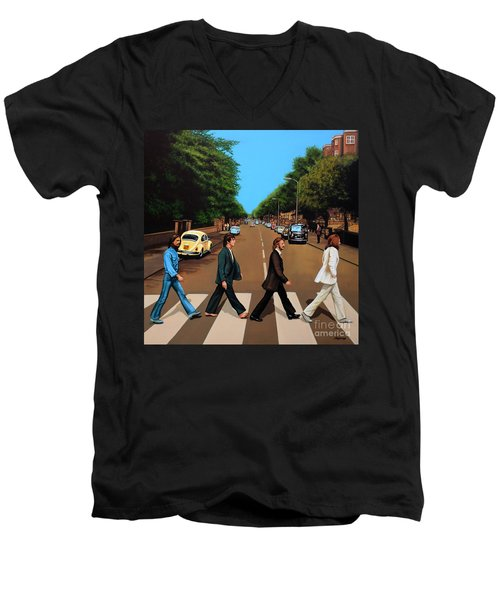 The Beatles Abbey Road Men's V-Neck T-Shirt