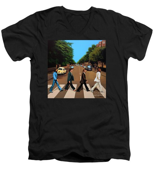 The Beatles Abbey Road Men's V-Neck T-Shirt
