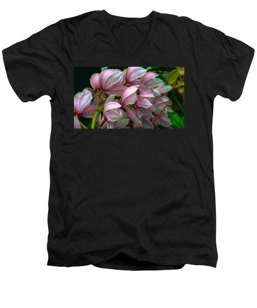 The Beauty Of Orchids Men's V-Neck T-Shirt
