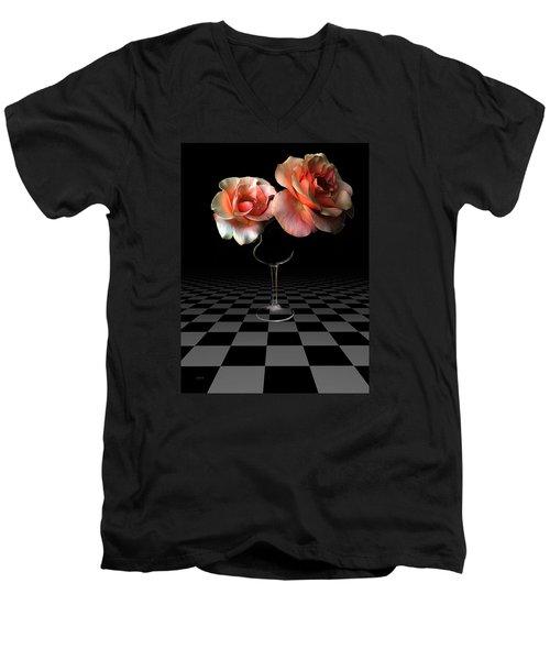 The Beauty Of Roses Men's V-Neck T-Shirt