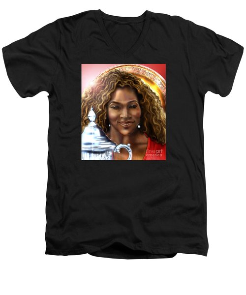 The Beauty Victory That Is Serena Men's V-Neck T-Shirt by Reggie Duffie