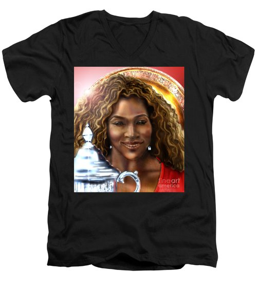 The Beauty Victory That Is Serena Men's V-Neck T-Shirt