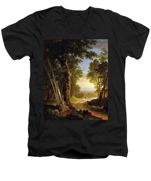 The Beeches By Asher Brown Durand Men's V-Neck T-Shirt