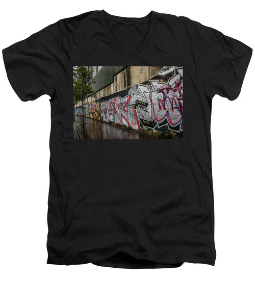 The Belfast Peace Wall Men's V-Neck T-Shirt
