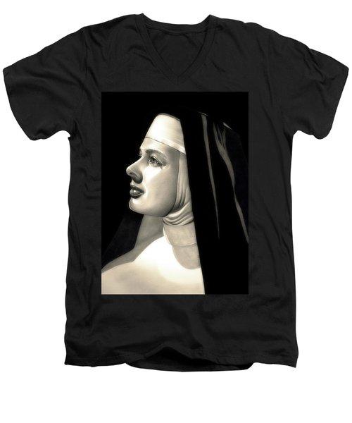 The Bell's Of St. Mary's  Men's V-Neck T-Shirt by Fred Larucci
