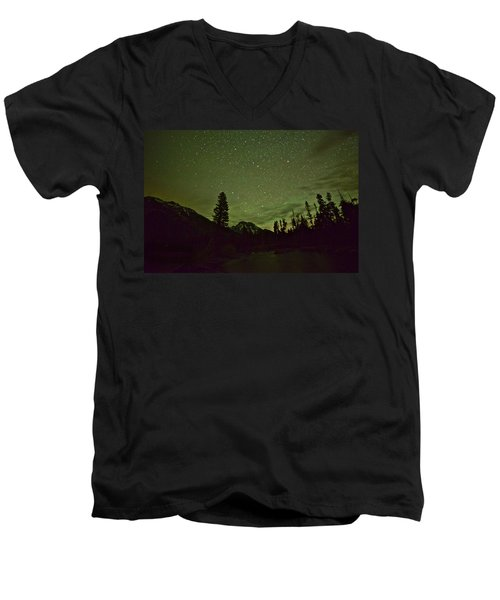The Big Dipper Over Mount Moran Men's V-Neck T-Shirt