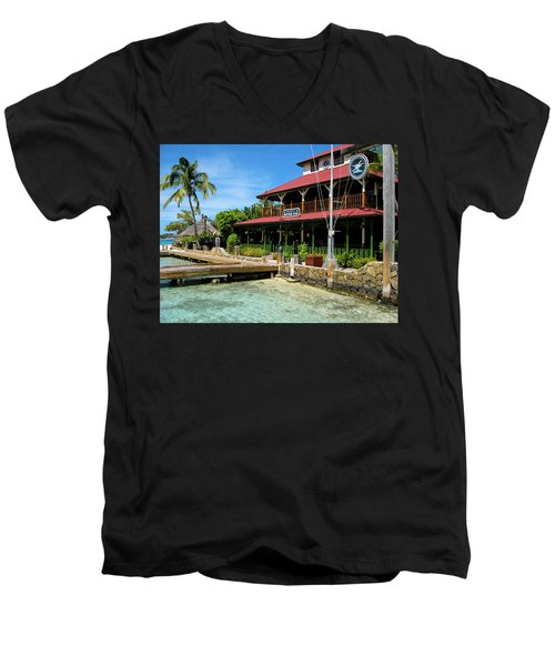 Men's V-Neck T-Shirt featuring the photograph The Bitter End Yacht Club by Adam Romanowicz
