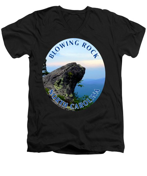 The Blowing Rock T-shirt Men's V-Neck T-Shirt
