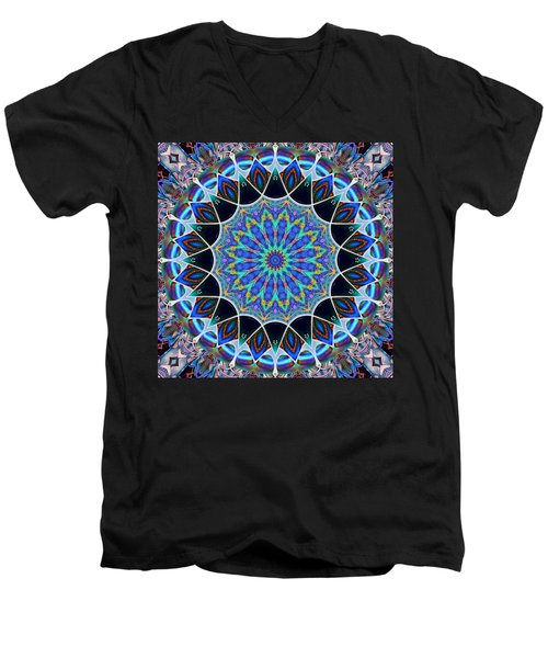 Men's V-Neck T-Shirt featuring the digital art The Blue Collective 09 by Wendy J St Christopher