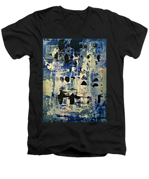 The Blues Abstract Men's V-Neck T-Shirt