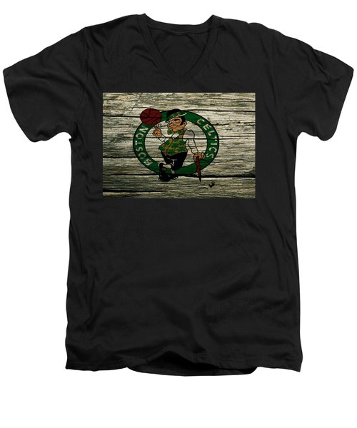 The Boston Celtics 2w Men's V-Neck T-Shirt by Brian Reaves