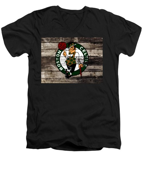 The Boston Celtics W10 Men's V-Neck T-Shirt by Brian Reaves