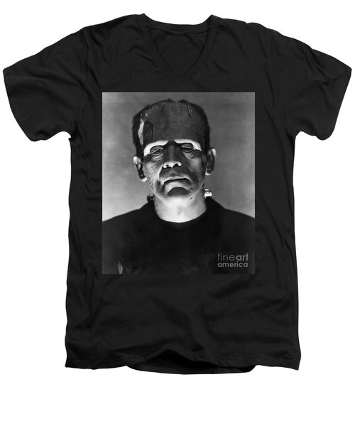 The Bride Of Frankenstein Men's V-Neck T-Shirt