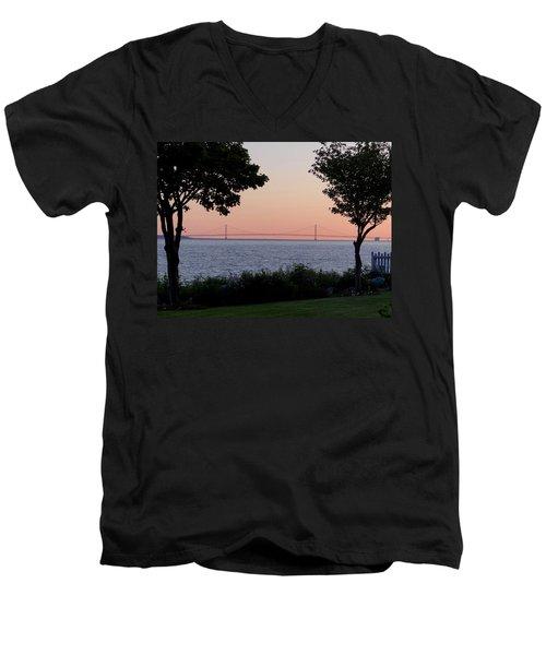 The Bridge From The Island Men's V-Neck T-Shirt
