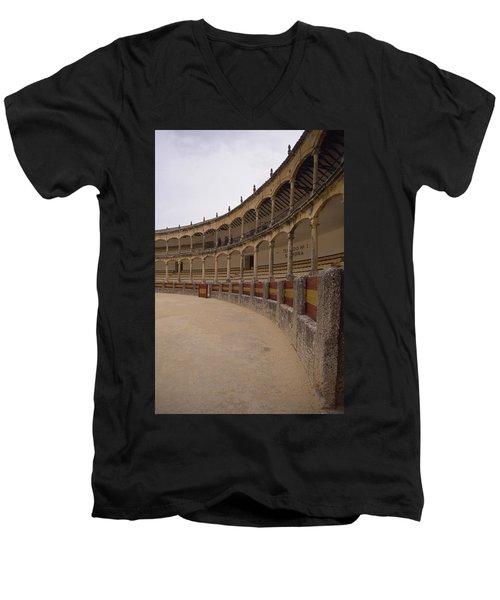 The Bullring Men's V-Neck T-Shirt by Shaun Higson