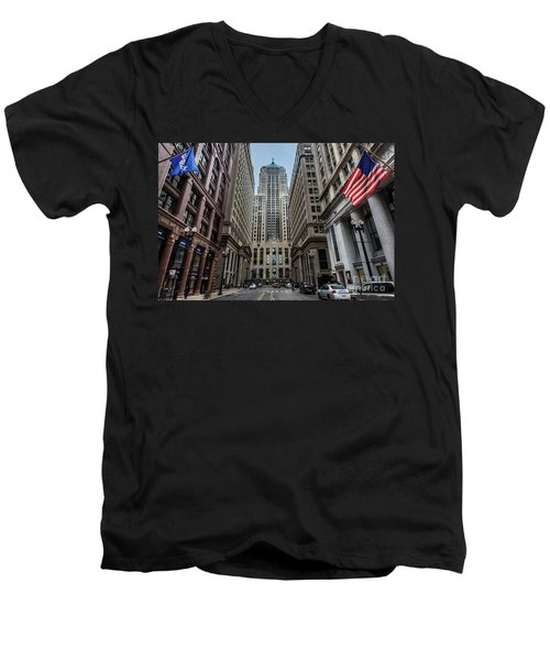 The Canyon In The Financial District Men's V-Neck T-Shirt