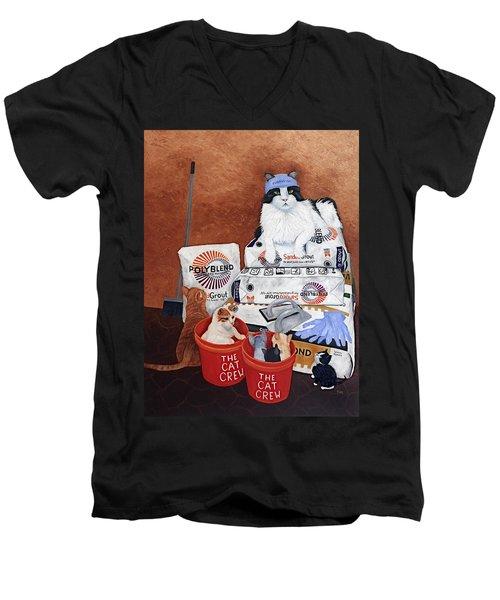 The Cat Crew Men's V-Neck T-Shirt