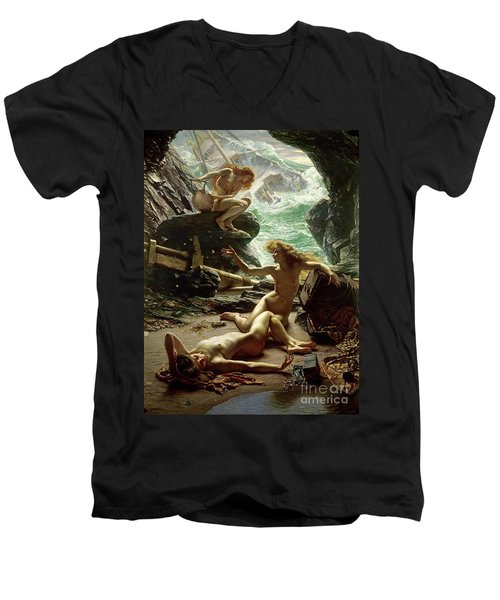 The Cave Of The Storm Nymphs Men's V-Neck T-Shirt