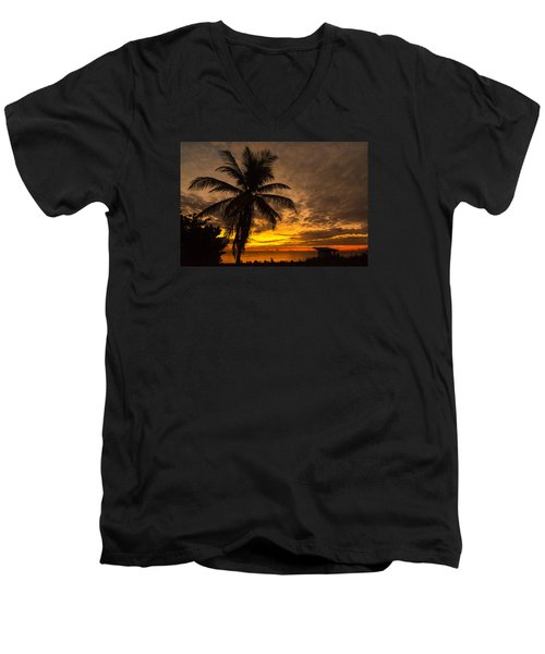 Men's V-Neck T-Shirt featuring the photograph The Changing Light by Don Durfee