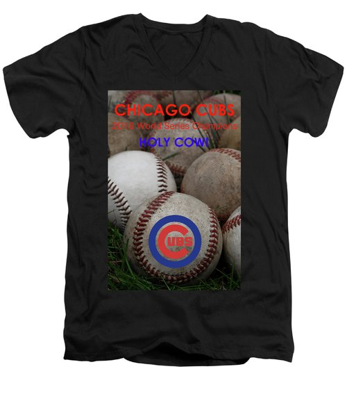 The Chicago Cubs - Holy Cow Men's V-Neck T-Shirt