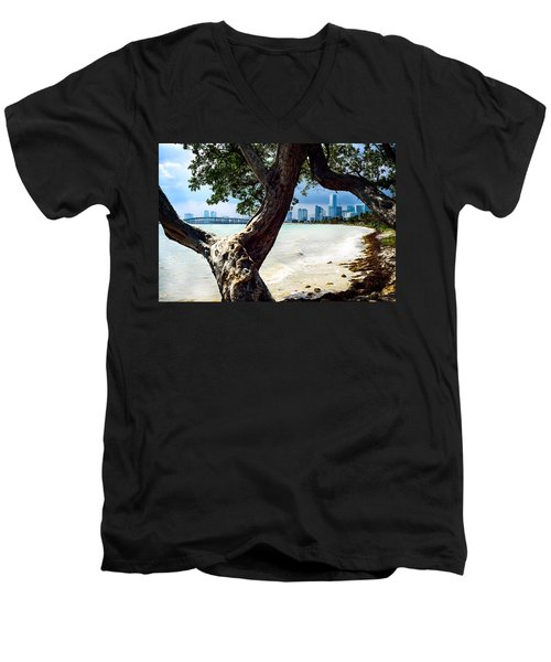 The City Beyond Men's V-Neck T-Shirt