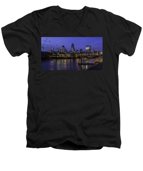 The City From The Southbank Men's V-Neck T-Shirt